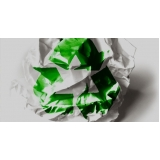 onde encontrar processo de reciclagem papel Chácara Leandro