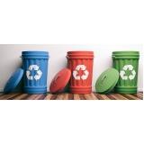 onde tem empresa de reciclagem de lixo e coleta seletiva Alumínio