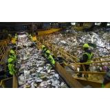 processo de reciclagem de lixo Vila Padre Anchieta