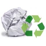 processo de reciclagem de papel Vila Maringá