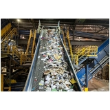 processo de reciclagem industrial Chácara da Barra