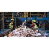 processo de reciclagem de lixo