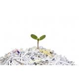 processo de reciclagem para papel picado