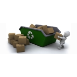 reciclagem de caixa de papelão Núcleo Residencial Rosália IV