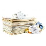 reciclagem de papel adesivo Vila Hortência