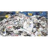 reciclagem de papel industrial Chácaras Três Marias