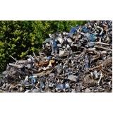 reciclagem de sucatas metálicas Pedreira